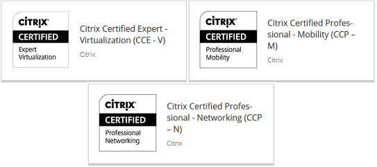 Citrix Certifications