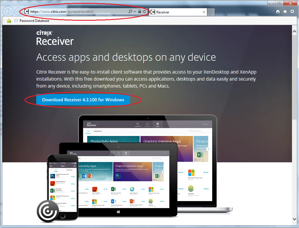 Citrix Receiver 4.3.100 Download