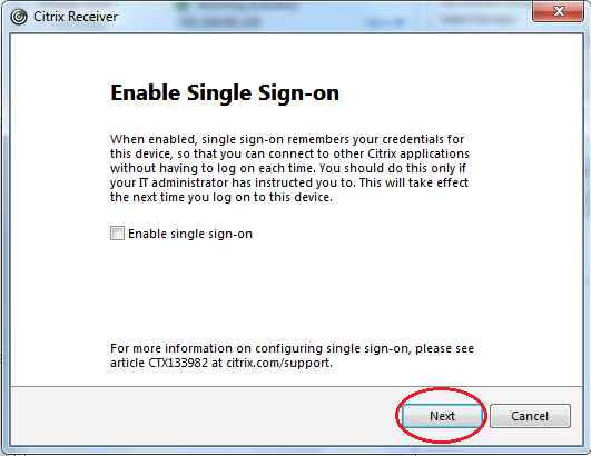 Enable Single Signon