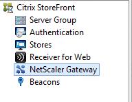 StoreFront Netscaler Gateway
