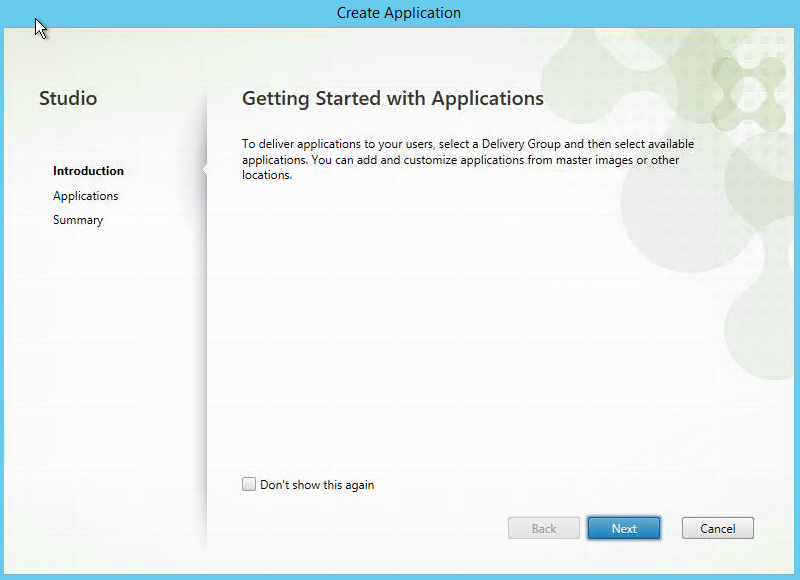 Getting Started With Applications