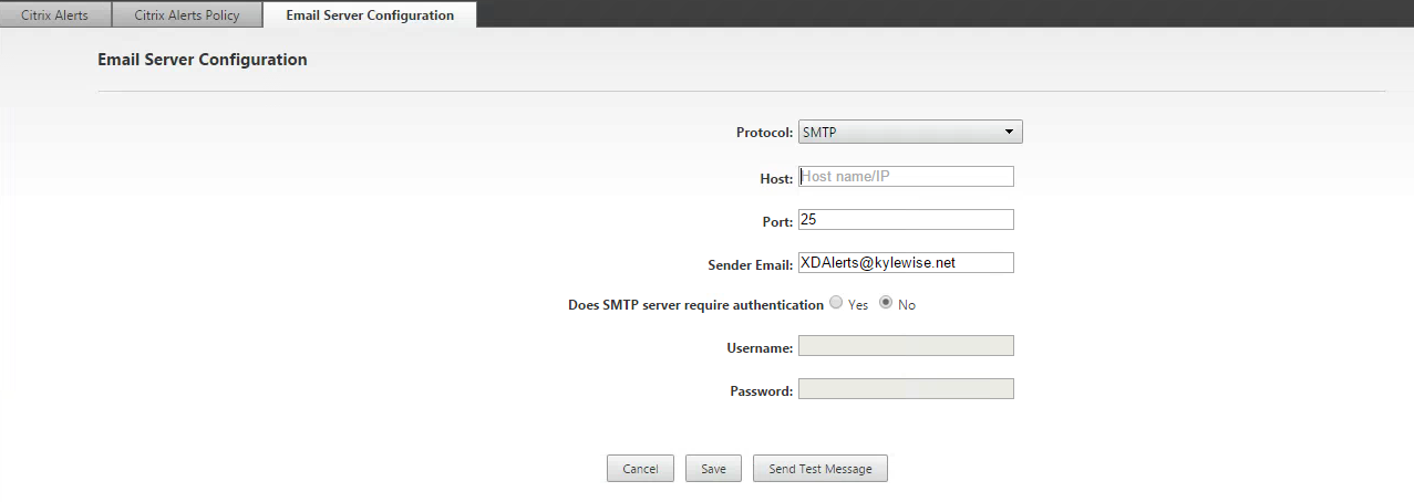 Email Server Config Director