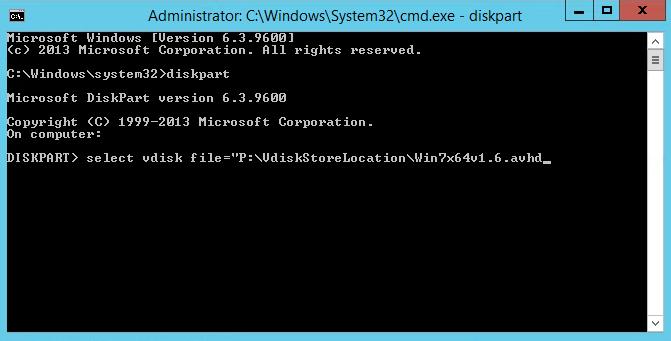 Select Disk Avdh file