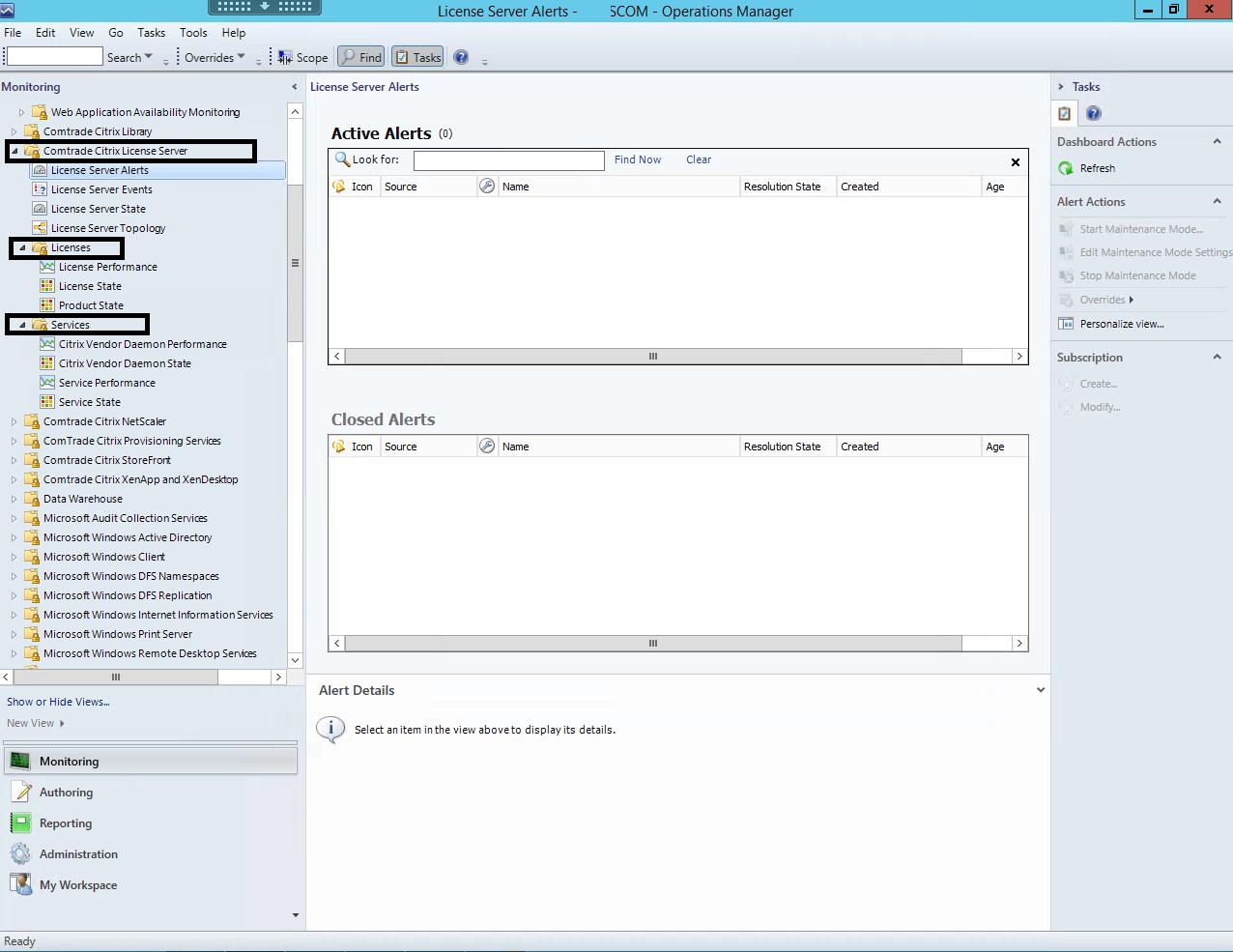 Comtrade Citrix License Server Management Pack Install | | Apps