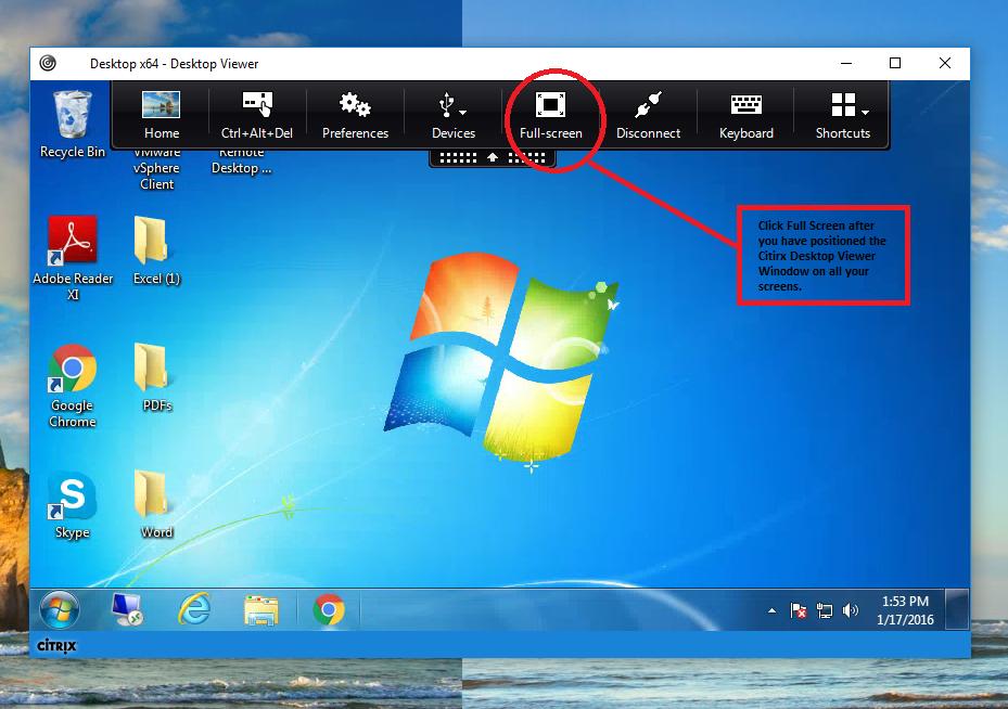 Citrix Receiver Full Screen Click
