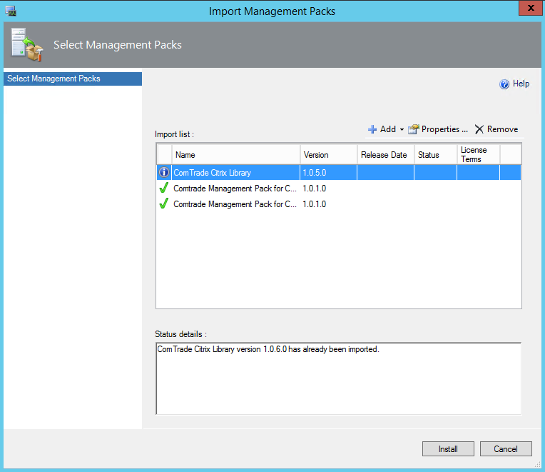 Comtrade Citrix License Server Import Completed