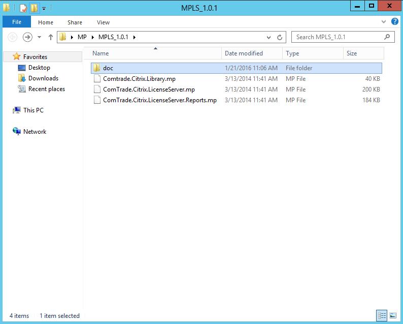 Comtrade Citrix License Server Management Pack
