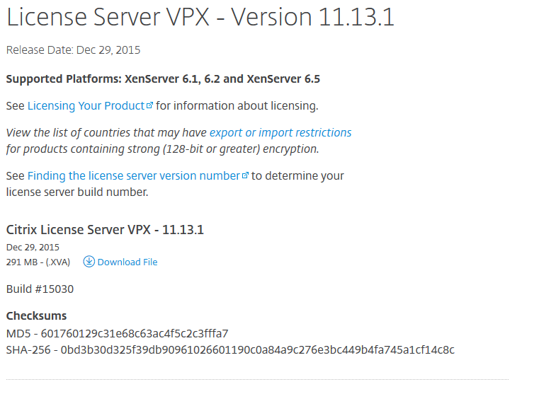 License Server 11.13.1 Download