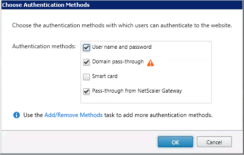 Passthrough Authentication Enabled on Receiver for Web