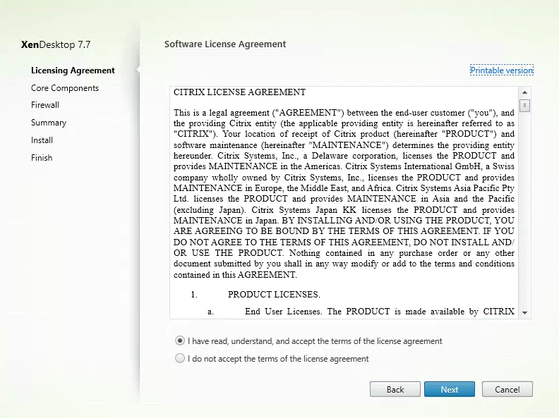 Software_Agreement_Citrix XenDesktop 7.7