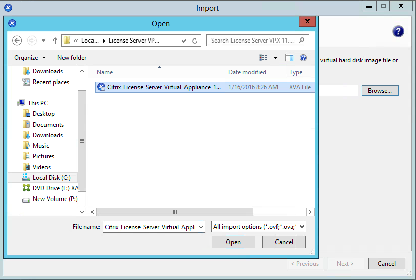 XenCenter Import Step 4