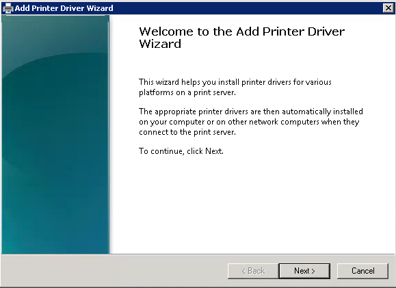 Add Print Driver Wizard 1