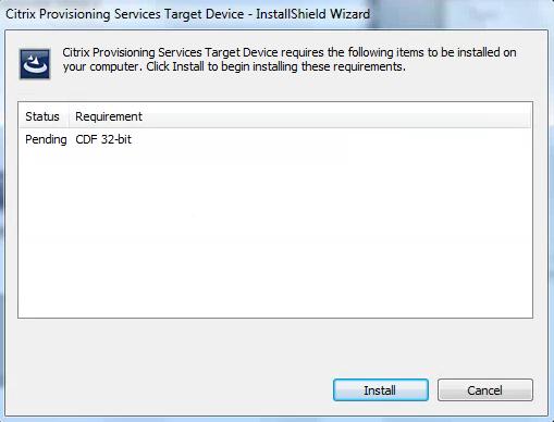 Citrix PVS 7.8 Target Tools CDF Install