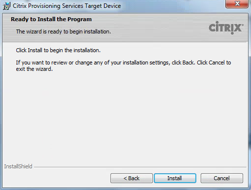 Citrix PVS 7.8 Target Tools Ready to Install
