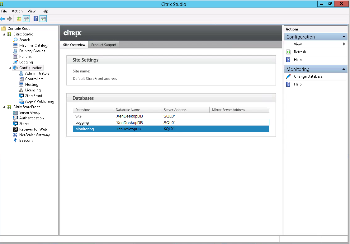 Citrix-Studio-Change-Database-Monitoring