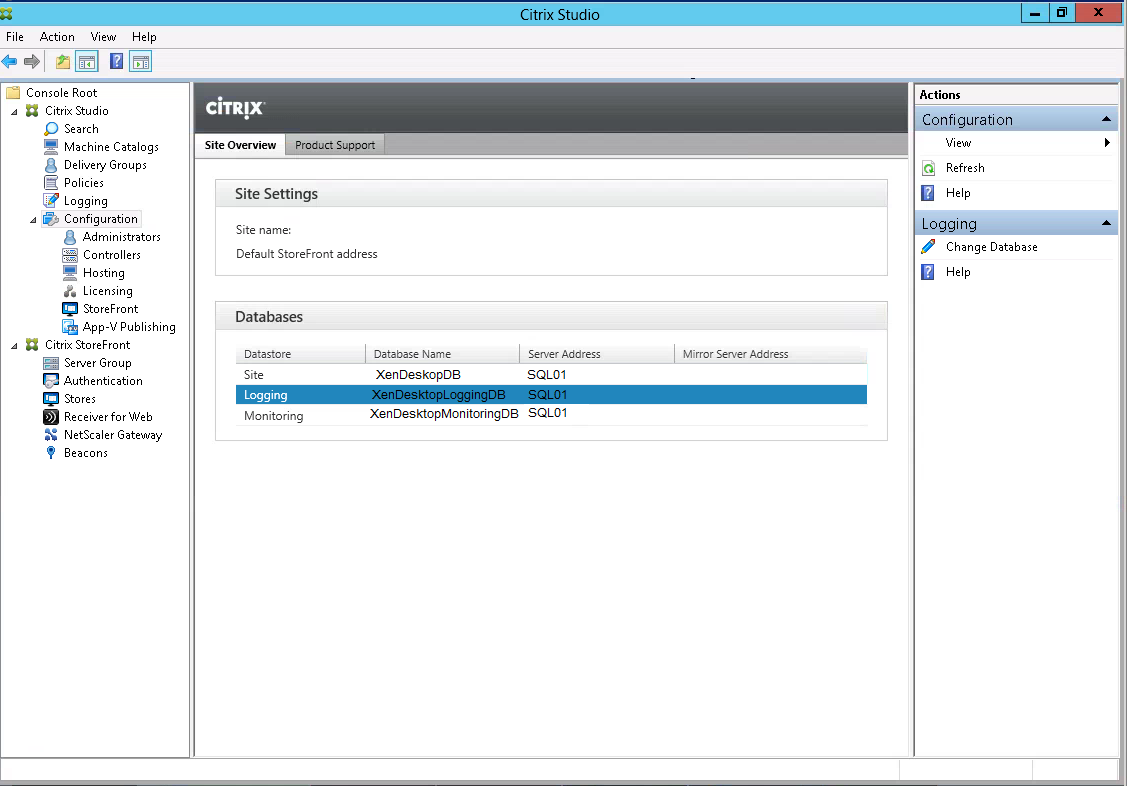 Citrix Studio Change Database Monitoring Finished