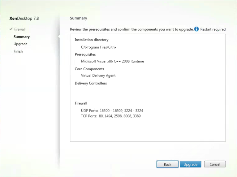 Citrix XenDesktop 7.8 VDA Installation Summary1