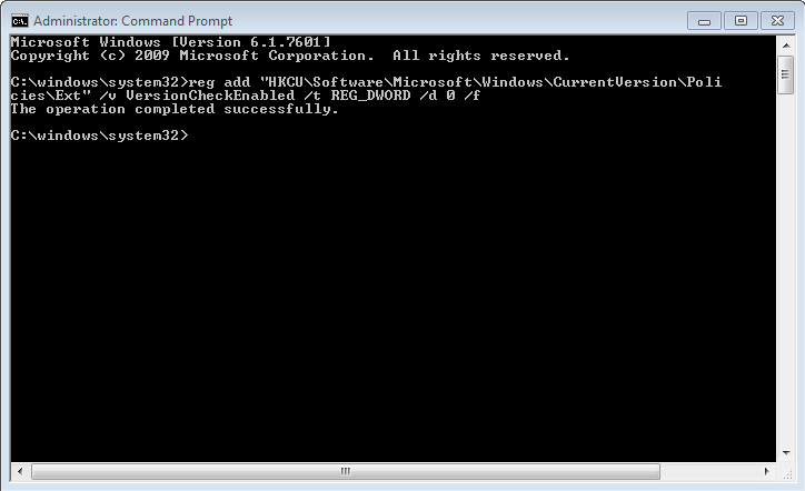 Command Prompt Add Registry Key