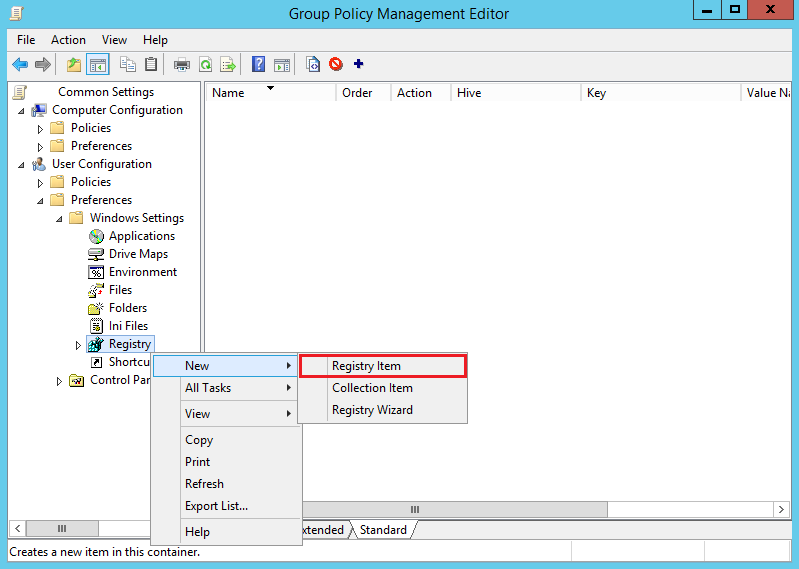 Create New GPP Registry Silverlight IE