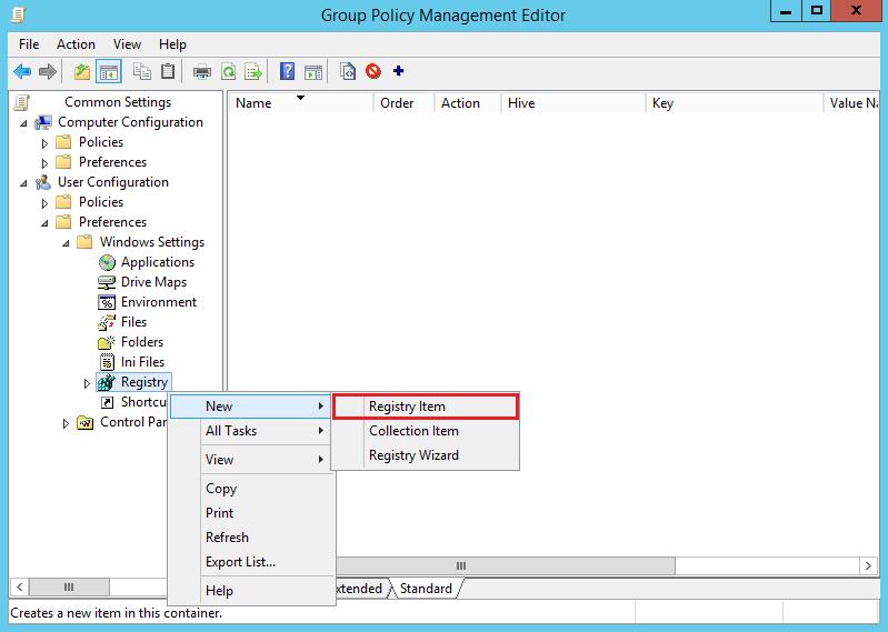 Create New GPP Registry Silverlight IE