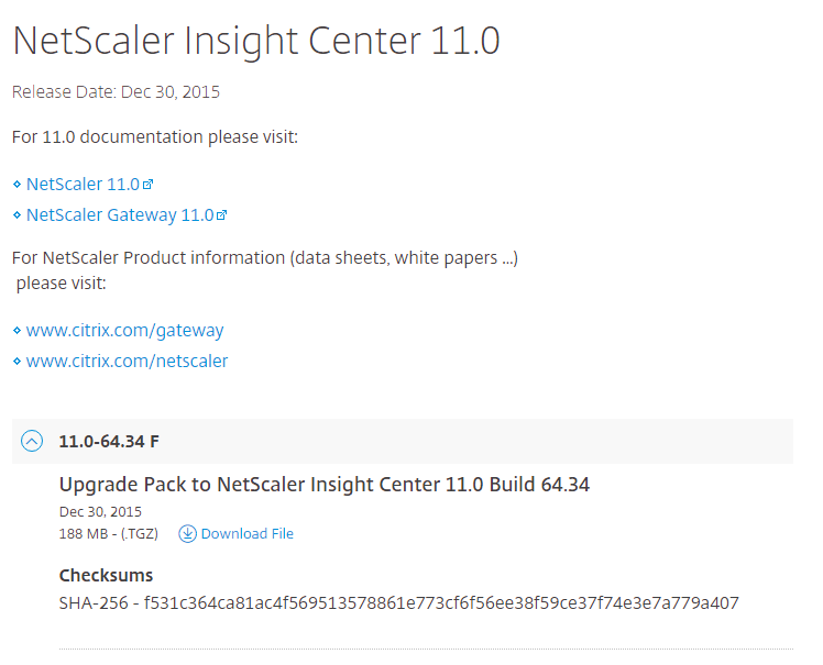 Download Netscaler Insight Center