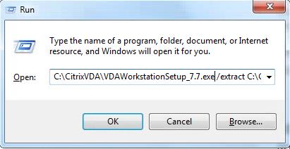 Extract VDAWorkstationSetup_7.7