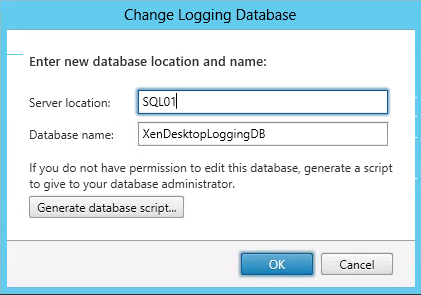 Logging Database XenDesktop
