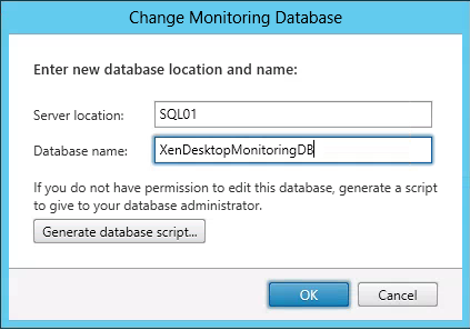 Monitoring Database XenDesktop