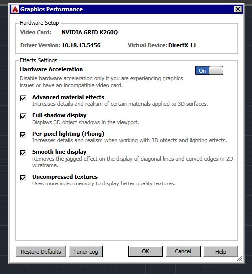 Nvidia Grid K260Q AutoCad 2015