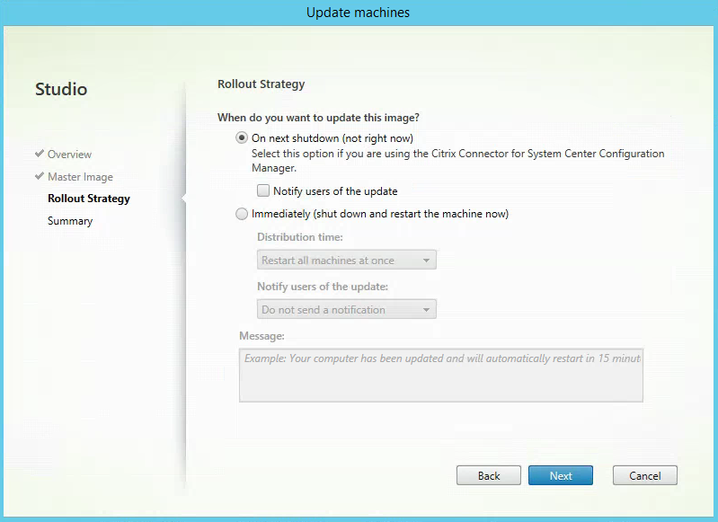 Rollout Strategy Citrix XenApp MCS Update 3