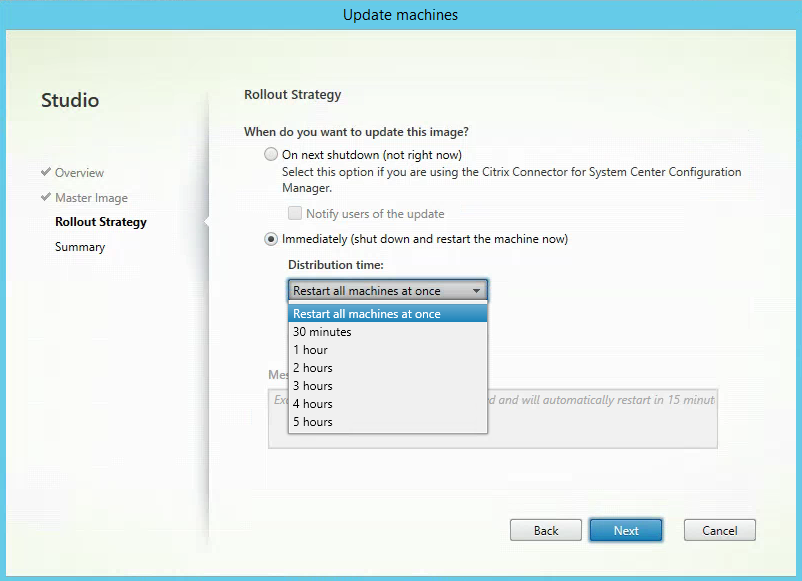 Rollout Strategy Citrix XenApp MCS Update Reboot All machines3
