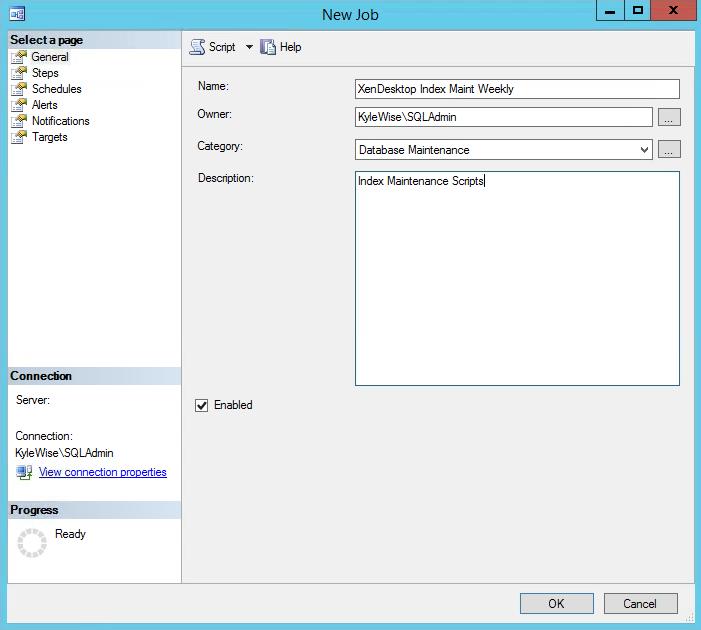 SQL Maintenance SQL Job 1