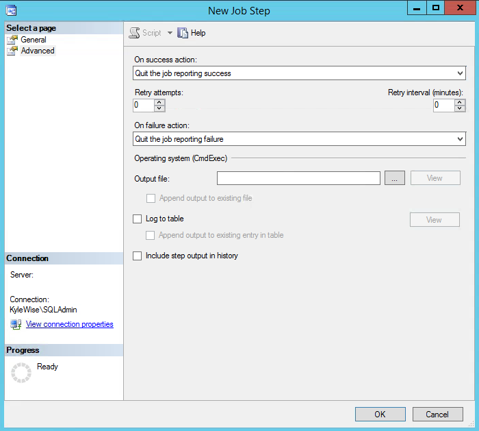 SQL Server Agent Jobs Advanced Settings