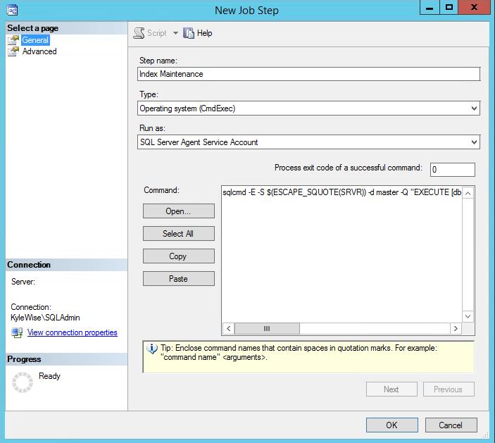 SQL Server Agent Jobs General Settings