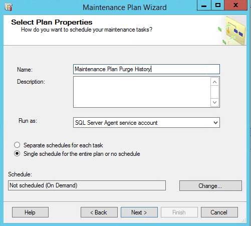 SQL Server Maintenance Plan Purge History