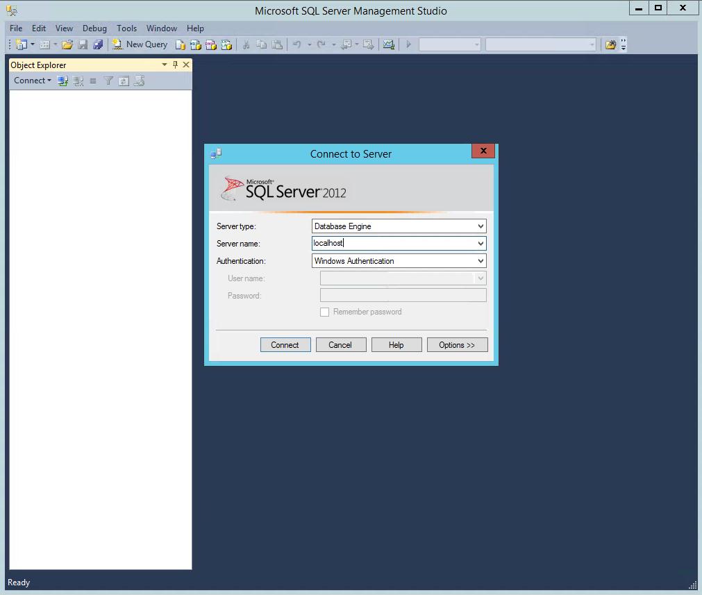 SQL Server Management Studio Login