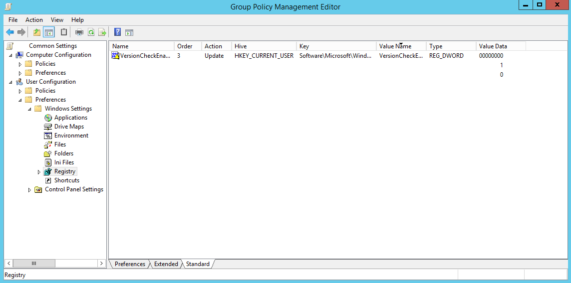 Silverlight Registry Key GPP