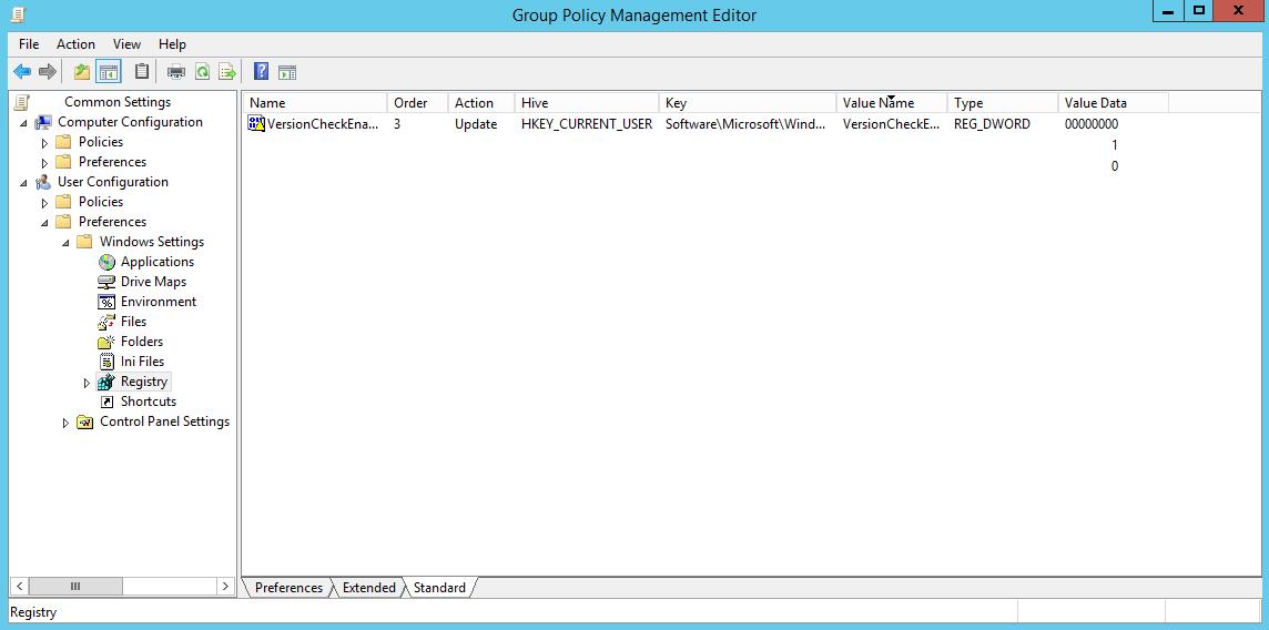 Silverlight Registry Key GPP