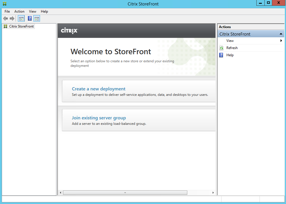 StoreFront 3.5 Welcome Create