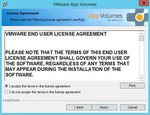 VMware App Volumes License Agreement