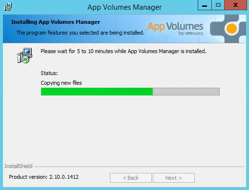 VMware AppVolumes Installing Software