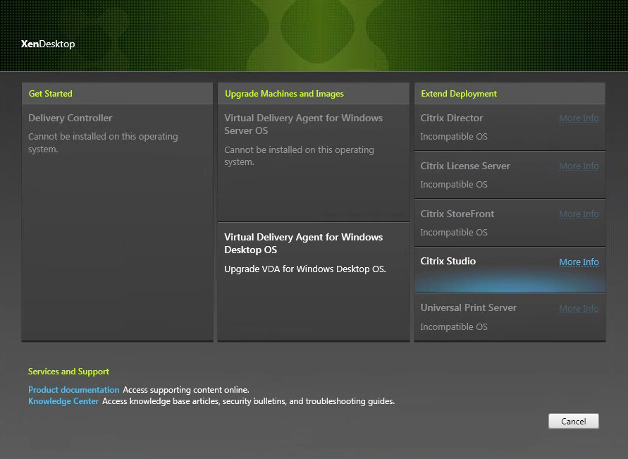 Virtual Delivery Agent for Windows Desktop OS Splash Screen
