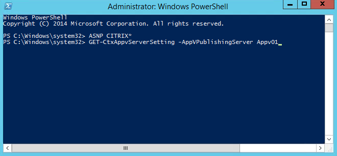 Appv Citrix XD Powershell