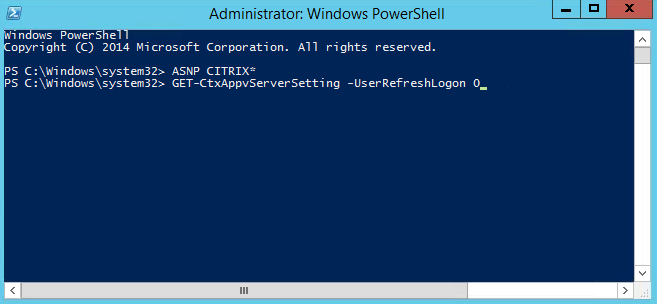 Appv PowerShell Userrefreshlogon