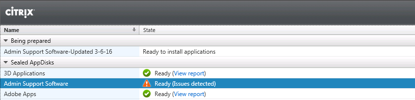 Citrix AppDisk New Version - Ready to Install Applications