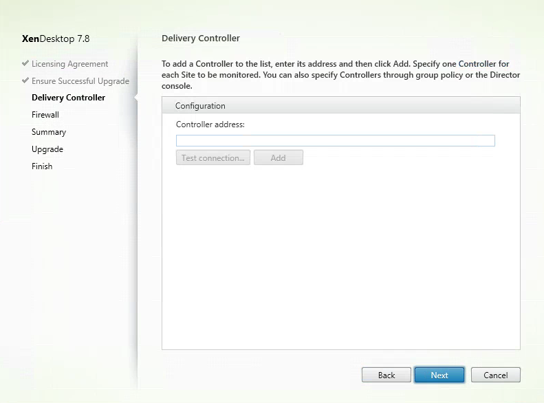 Citrix Director 7.8 Delivery Controllers