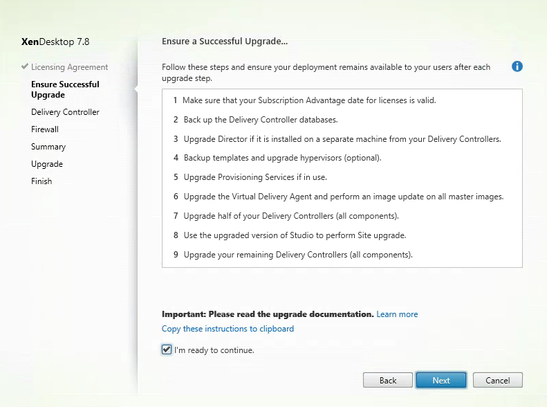 Citrix Director 7.8 Ensure a Successful Upgrade