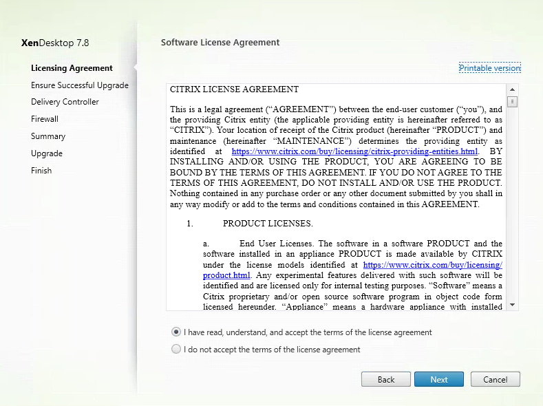 Citrix Director 7.8 Software License Agreement