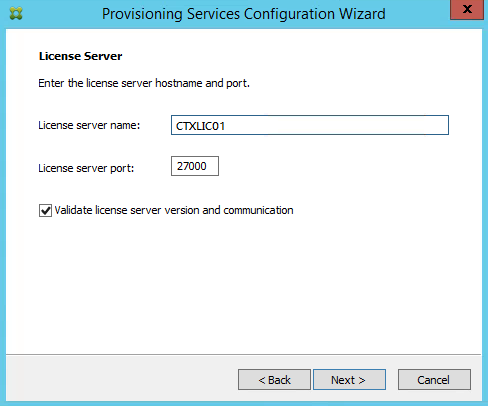 Citrix PVS License Server