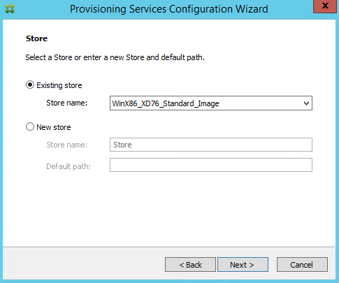 Citrix Provisioning Services Vdisk Location